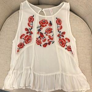 Tops - White flower blouse